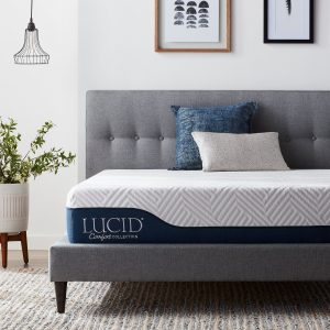 1) Lucid 10 Inch Queen Hybrid Mattress​